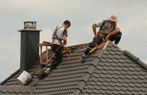 California roofers working on a tile roof